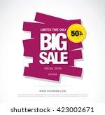 bright vector sale banner | Shutterstock .eps vector #423002671