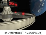 a space hotel near the earth's... | Shutterstock . vector #423004105