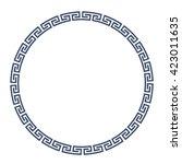 greek round frame for design.... | Shutterstock .eps vector #423011635