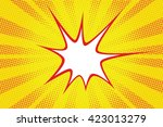 retro comic yellow background...   Shutterstock .eps vector #423013279