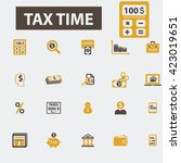 tax time icons  | Shutterstock .eps vector #423019651