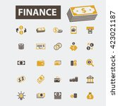 finance icons  | Shutterstock .eps vector #423021187