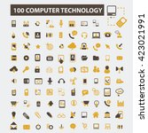 computer technology icons  | Shutterstock .eps vector #423021991