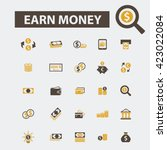 earn money icons  | Shutterstock .eps vector #423022084