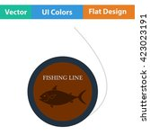 flat design icon of fishing...