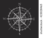 black vintage wind rose compass ... | Shutterstock .eps vector #423028465