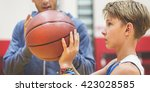 team teamwork basketball... | Shutterstock . vector #423028585