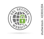 ssl secure website icon. globe... | Shutterstock .eps vector #423031204
