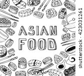 asian food background. asian... | Shutterstock . vector #423031261
