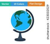 flat design icon of globe in ui ...