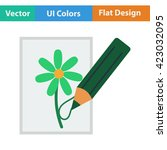 flat design icon of sketch with ...