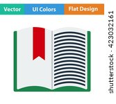 flat design icon of open book...