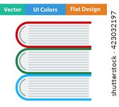 flat design icon of stack of...