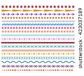 colored vector line borders.... | Shutterstock .eps vector #423037189