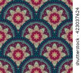 seamless colored pattern for... | Shutterstock . vector #423037624