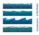 cartoon ocean or sea waves...