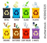 recycle bins with different...