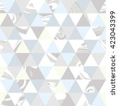 geometric gray marble seamless...   Shutterstock .eps vector #423043399