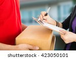 delivery service send to... | Shutterstock . vector #423050101