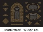 arabic vector set of frames and ... | Shutterstock .eps vector #423054121