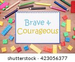 kids and children theme. brave... | Shutterstock . vector #423056377
