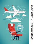 creative vector airline travel  ...