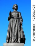 Small photo of A bronze memorial statue of Florence Nightingale in Waterloo Place, Westminster, London, which was unveiled in Waterloo Place in 1915