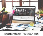 brand branding marketing... | Shutterstock . vector #423064405
