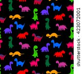 funny colorful  vector seamless ... | Shutterstock .eps vector #423072001