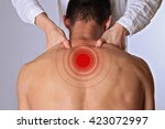 chiropractic  osteopathy ... | Shutterstock . vector #423072997