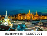 the marble temple  wat... | Shutterstock . vector #423073021