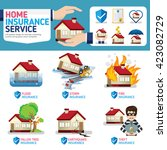 home insurance business service ... | Shutterstock .eps vector #423082729