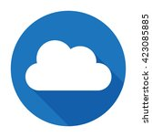 cloud icon flat vector logo... | Shutterstock .eps vector #423085885