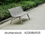 bench in a park for picnic or... | Shutterstock . vector #423086935