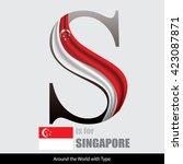 vector letter s is for... | Shutterstock .eps vector #423087871