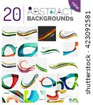 pack of vector abstract... | Shutterstock .eps vector #423092581
