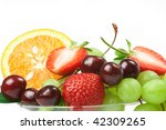 still life of fresh fruit | Shutterstock . vector #42309265