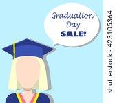graduation day sale...   Shutterstock .eps vector #423105364
