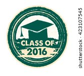 class of 2016 text with... | Shutterstock .eps vector #423107545