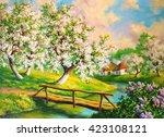 Spring Landscape With Flowerin...