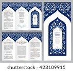 ornate vintage booklet with... | Shutterstock .eps vector #423109915