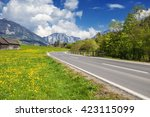 landscape in the alps in... | Shutterstock . vector #423115099