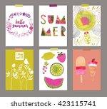 vector set of beautiful summer... | Shutterstock .eps vector #423115741