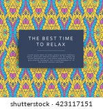 bright seamless pattern in... | Shutterstock .eps vector #423117151