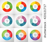 collection of infographic... | Shutterstock .eps vector #423121717