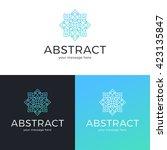 vector geometric logo design.... | Shutterstock .eps vector #423135847