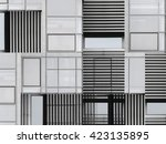 fictional facade. digitally... | Shutterstock . vector #423135895