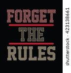 slogan typography  t shirt... | Shutterstock .eps vector #423138661