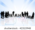 family and abstract vector | Shutterstock .eps vector #42313948