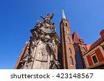 breslau  the nepomuk monument... | Shutterstock . vector #423148567